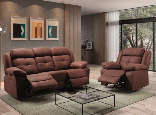 sofa marron moderno relax electrico 252faro