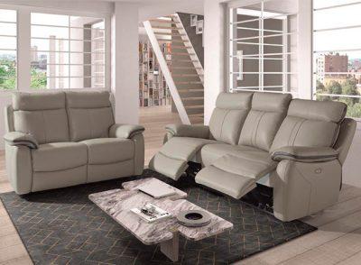 Sofá piel espesorada pvc de 3 plazas relax