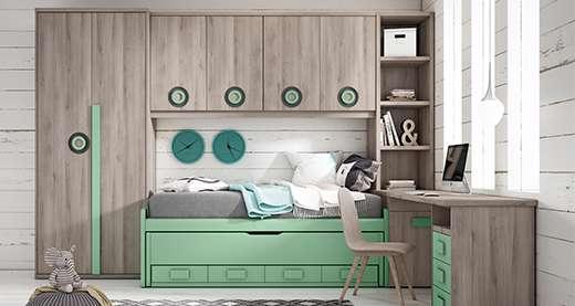 Dormitorios juveniles a medida en Zaragoza