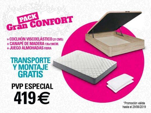 pack colchon canape 135 cm oferta