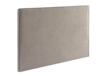 Cabecero rectangular de tela liso