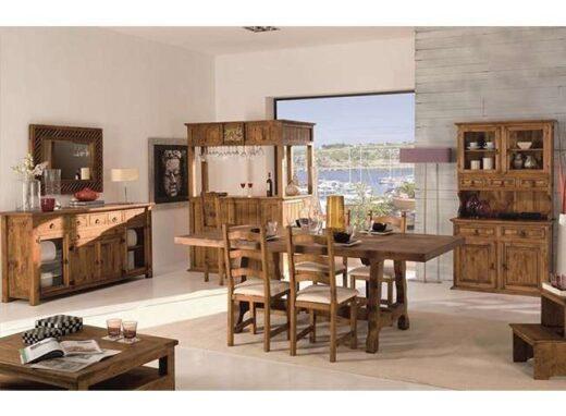 conjunto-mesa-2-metros-patas-onduladas-y-4-sillas-madera-loneta-rustico