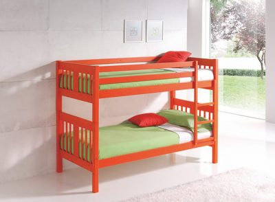 Litera convertible en dos camas de madera de pino para dormitorio juvenil