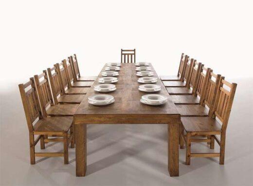 Mesa rústica comedor grande rectangular 250 cm largo