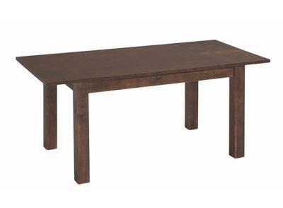 Mesa rústica extensible recta de madera de pino para comedor