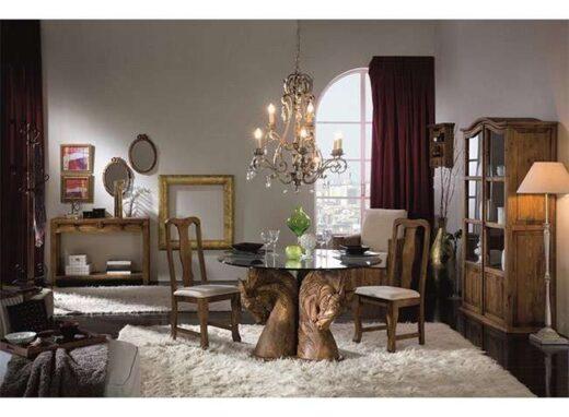 mesa-rustica-redonda-cristal-y-madera-soporte-tallado-caballos-243121012