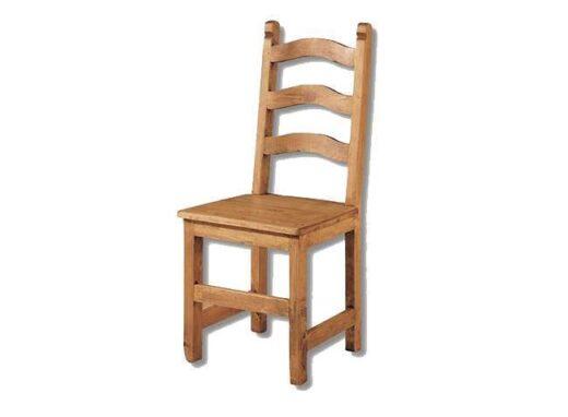 silla-comedor-rustica-madera-respaldo-travesaños-curvos