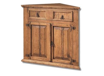 Aparador esquina de madera estilo rústico