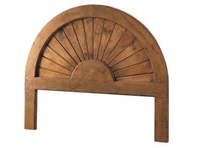 Cabecero redondo de madera maciza estilo rústico