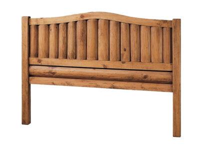 Cabecero de cama rústico mexicano de troncos verticales