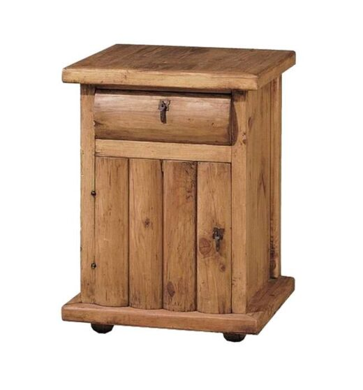 mesita-de-noche-madera-rustica-puerta-troncos-verticales