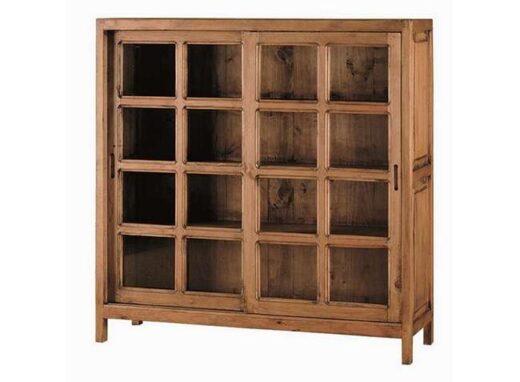vitrina-cuadrada-madera-con-2-puertas-correderas-rustico