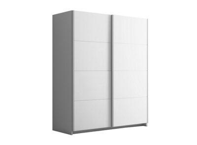 Armario con 2 puertas correderas en blanco de estilo moderno