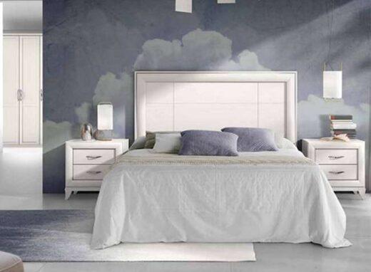 cabecero-cama-recto-blanco-y-mesitas-dos-cajones-estilo-clasico