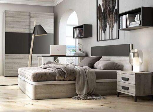 cabezal-dormitorio-matrimonio-con-canape-tapizado-y-mesita-dos-cajones