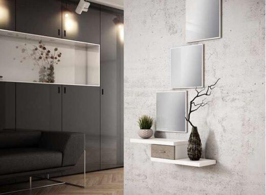 cajon-recibidor-pequeno-en-color-blanco-3-espejos-cuadrados-moderno
