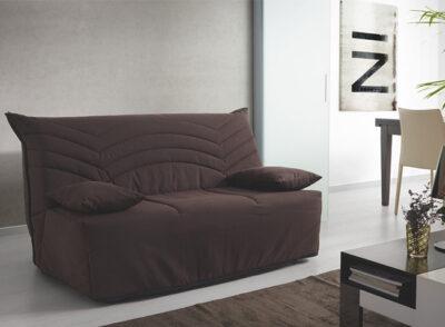 Sofá cama tapizado en lonta y con apertura BZ