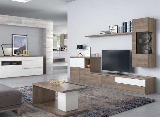 composicion-modular-color-blanco-y-nogal-con vitrina-y-aparador-opcional