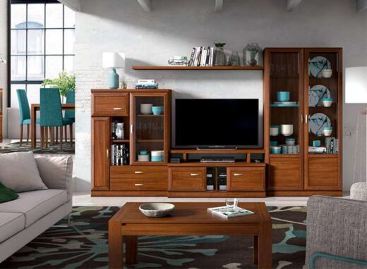 composicion-muebles-de-salon-vitrina-lateral-estanteria-colgada-madera