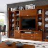 conjunto-mueble-salon-grande-vitrinas-laterales-cristal-modulo-bajo-madera