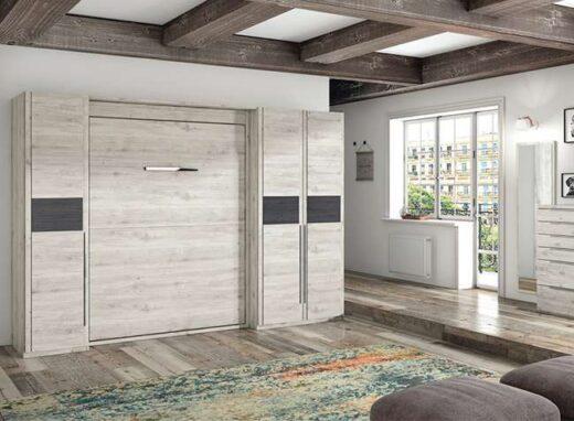 dormitorio-cama-abatible-vertical-con-3-armarios-laterales