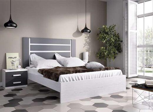 dormitorio-de-matrimonio-blanco-y-negro-cabecero-rectangular-mesitas-2-cajones