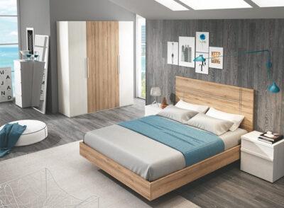 Dormitorio de matrimonio con cabecero y bañera + armario (opcional)