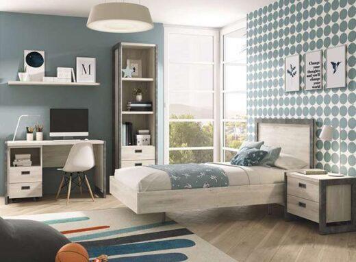 dormitorio-juvenil-completo-cama-90-con-banera-y-mesita-2-cajones