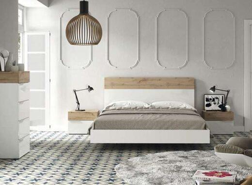 dormitorio-matrimonio-madera-blanco-cama-flotante-banera-y-mesitas