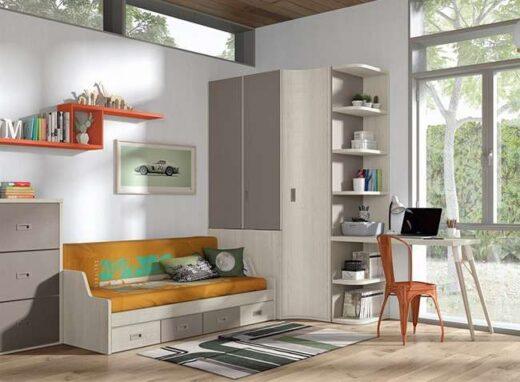 dormitorios-juveniles-con-armario-de-rincon-con-cama-convertible-y-zona-de-estudio