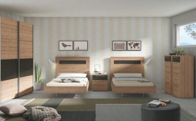 Habitación doble matrimonial compuesto por 2 cabeceros y bañera (resto del mobiliario opcional)