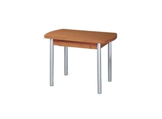 Mesa para cocina ovalada de tipo libro + cajón