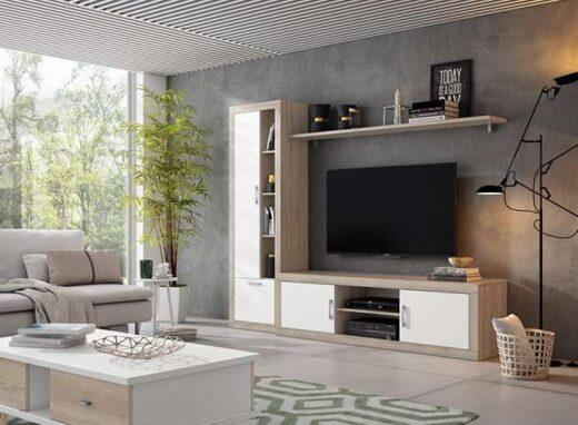 mueble-de-salon-modulo-bajo-2-puertas-y-estanteria-con-tiradores