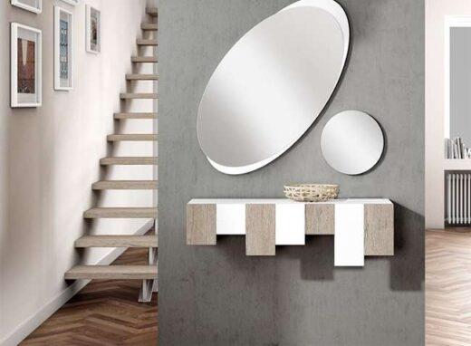 recibidor-diseno-moderno-en-color-blanco-2-espejos-ovalado-circular