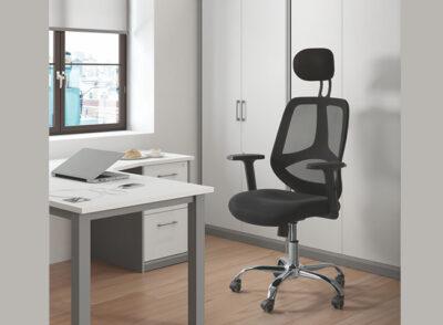 Silla alta para escritorio transpirable y con tejido 3D