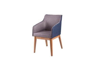 Silla butaca de diseño elegante tapizada de estilo moderno
