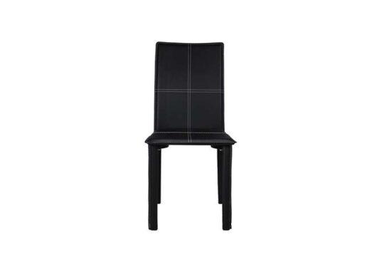 silla-de-comedor-blanca-con-estructura-metálica-tapizada-en-pvc