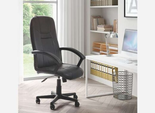 silla-de-oficina-negra-sistema-balanceo-tapizada
