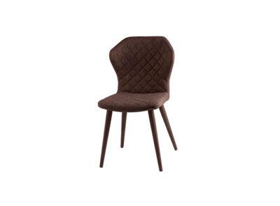 Silla con diseño original para comedor tapizada y resistente