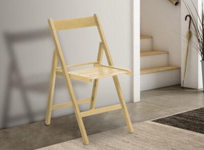 Silla madera minimalista disponible en varios colores