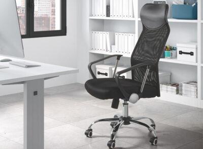 Silla de oficina con malla tapizada en tejido 3D (disponible en varios colores)
