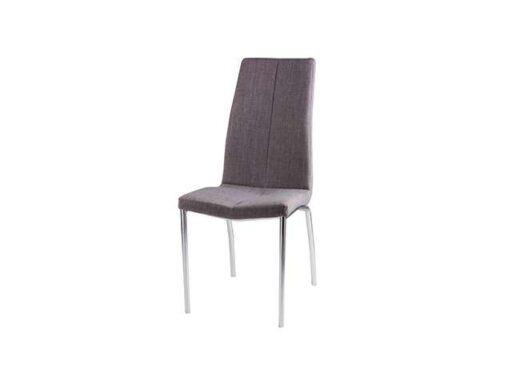 Silla para comedor con estructura de acero y diseño sencillo