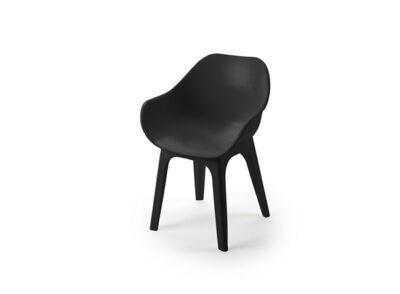 Silla de comedor moderna en color negro