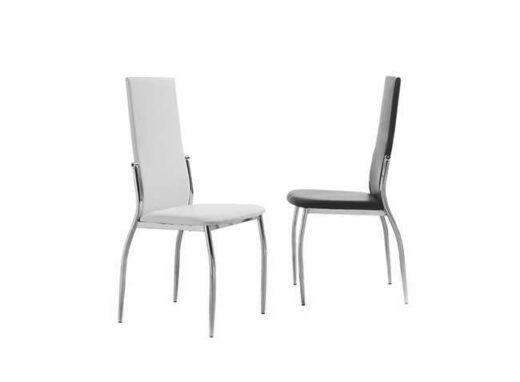 sillas-patas-cromadas-tapizada-en-polipiel-blanca-o-negra