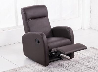 Sillón individual reclinable para relax manual tapizado
