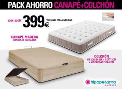 Pack Canapé y Colchón 135 Oferta