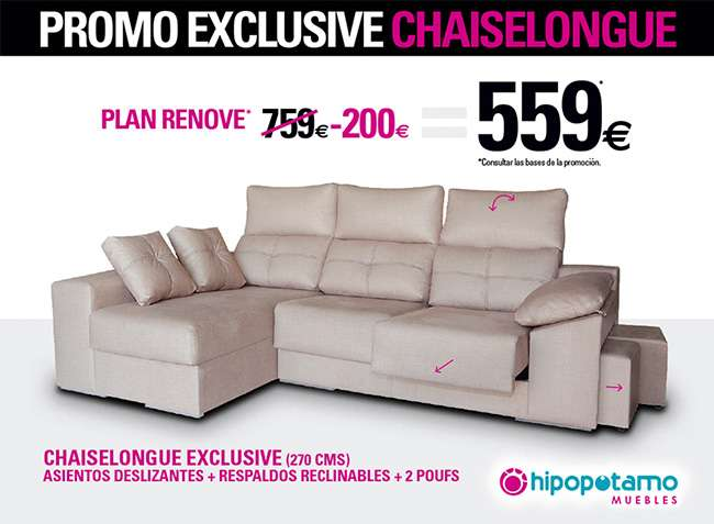 oferta chaiselongue sofa