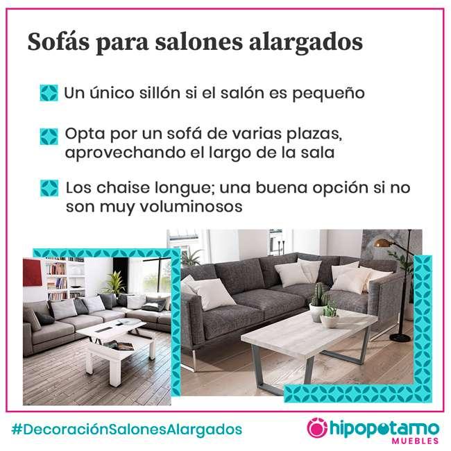 sofas para salones alargados