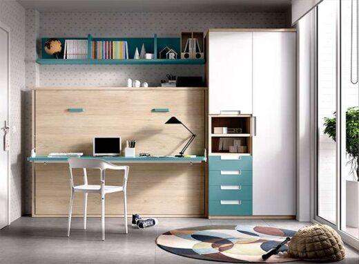 Habitacion-juvenil-completa-con-cama-abatible-de-matrimonio-y-zona-de-estudio