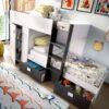 Litera-tren-dos-camas-gris-grafito-armario-y-almacenaje